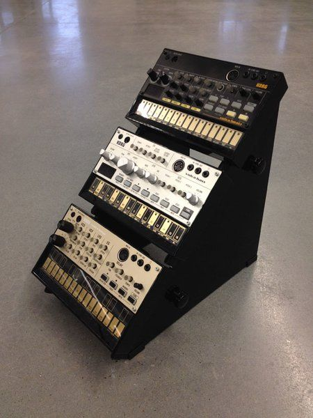 The volc 45-3: three tier korg volca stand