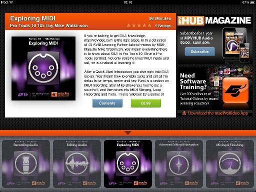 Pro Tools Tutorials App Home Screen