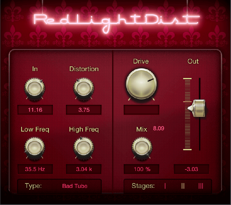 PreSonus Red Light Distortion
