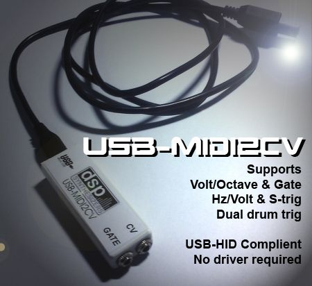 DSP Synthesizers USB-MIDI2CV