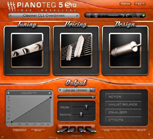 Pianoteq Clavinet interface.