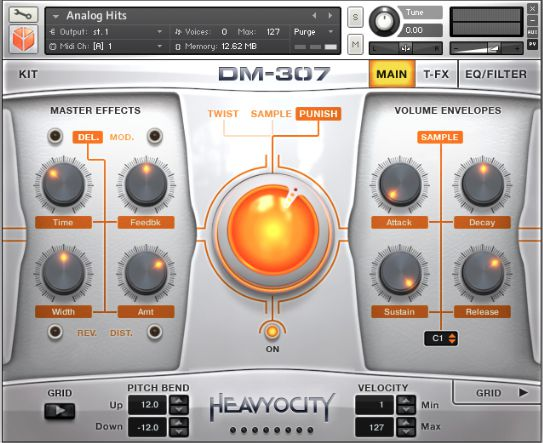 The instrument itself: Heavyocity's DM-307.