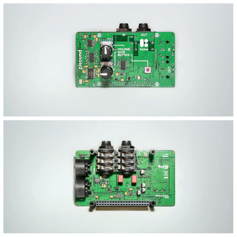 pisound (top and bottom view)