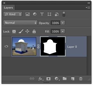 A layer with a layer mask.
