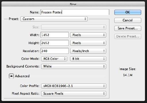 New Document settings