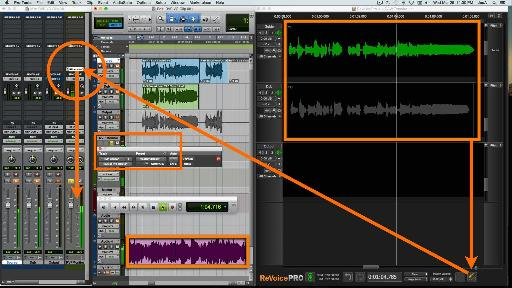 Fig 4 The Revoice Pro Monitor plug-in lets you choose to audition edits in isolation, in Revoice, or in context, through the DAW.