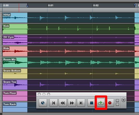 Loop Playback while making Tab to Transients based selections across multiple tracks