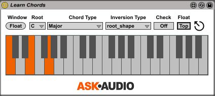Learn Chords Max for Live device