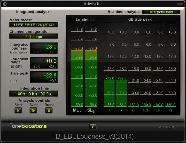 A free trial meter in EBU R 128 Mode