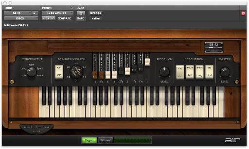 The Organ & Leslie panes.