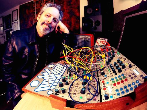 You don't need leather to own a Buchla, but Steve H carries off both modular and his jacket in one go.