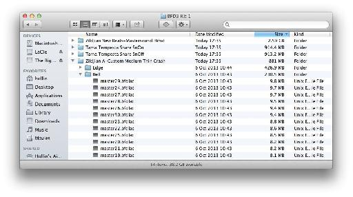 The sample content is 55 GB when fully unpacked, so you might want to put it on a secondary audio drive.