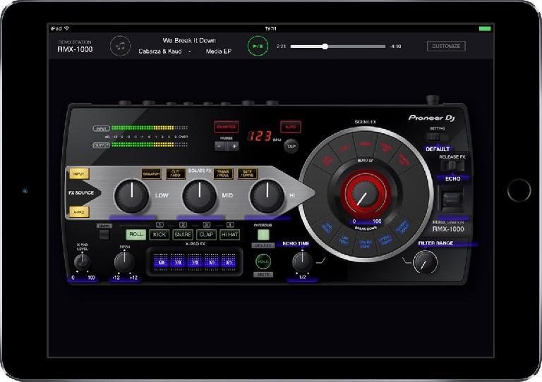 RMX-1000 for iPad: Filter range screen.