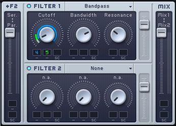 LFO modulate the filter