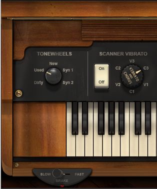 The DB-33 Scanner-Vibrato controls.