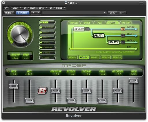Revolver's signal flow routing.
