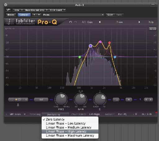 The higher latency settings can be great for critical mixing and mastering sessions