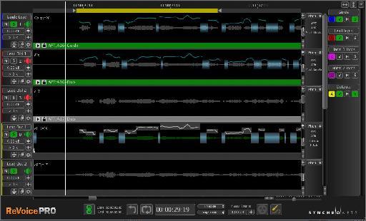 ReVoice Pro 3.1 - main screen.