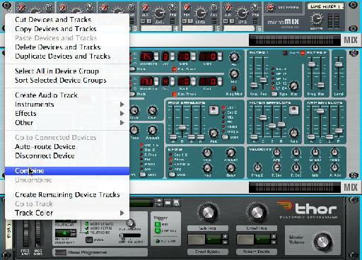 Combine instruments