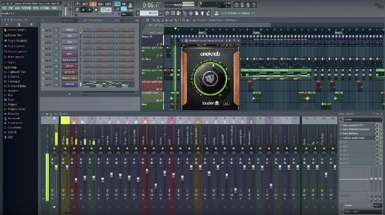 Waves OneKnob plugin inside FL Studio 12.