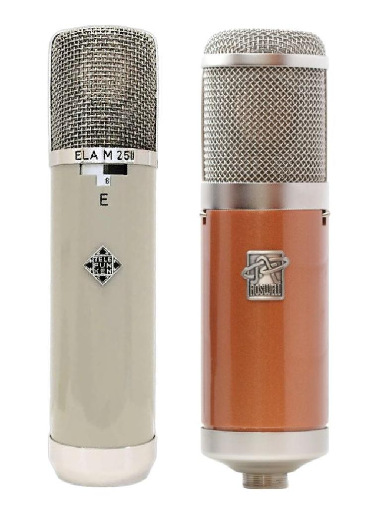 A vintage Ela M 251 (left); the Roswell Colares (right)