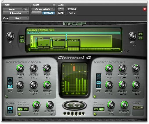 McDSP's Channel G Dynamics Plug-in.