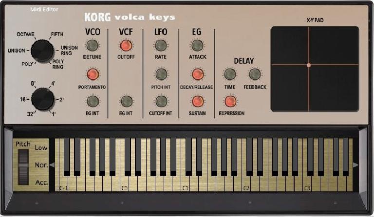 Korg Volca Keys editor