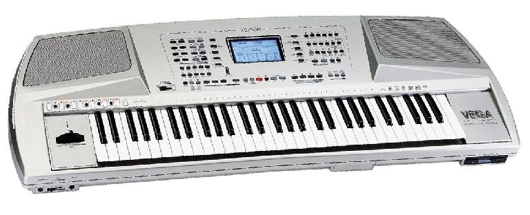 Here's the Ketron VEGA keyboard workstation we believe is being played.
