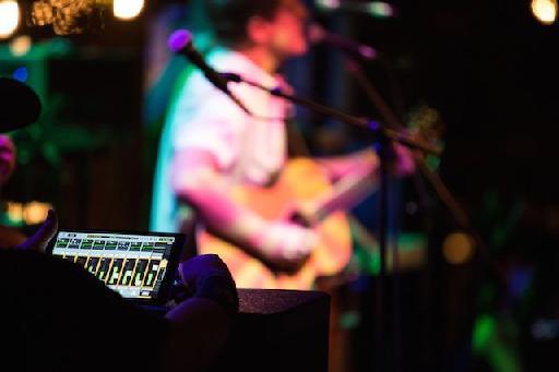 Live sound with the Mackie DL32R Digital Live Sound Mixer.
