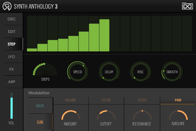 Synth Anthology 3 step input