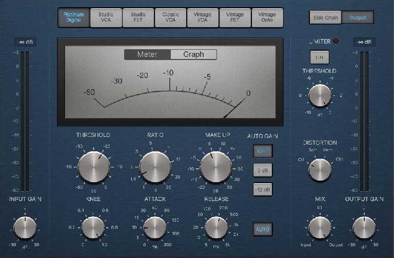 A typical full-featured compressor (plug-in) panel