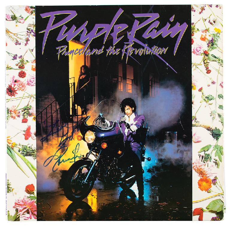 Prince Purple Rain signed album