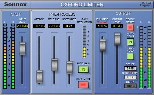 The Sonnox Limiter is an established mastering limiter.
