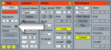 Groove hotswap button