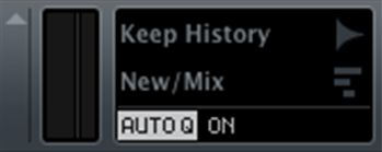 Figure 2: The Auto Q button, ON or OFF, shown ON.
