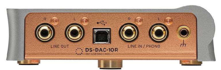The rear of the Korg DS-DAC-10R.