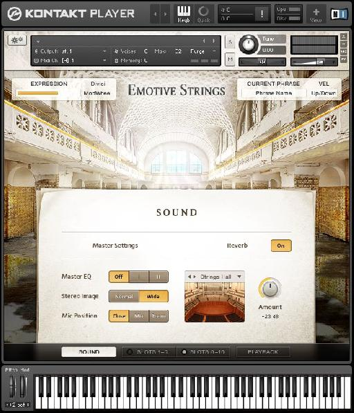 NI Emotive Strings for Kontakt.