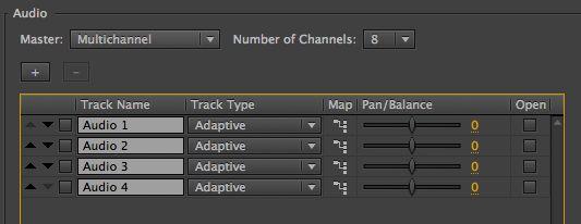 adaptive tracks sequence