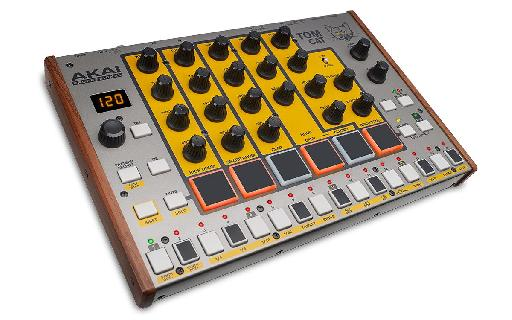 Akai Pro Tom Cat features MPC-style pads and a 32-step sequencer.