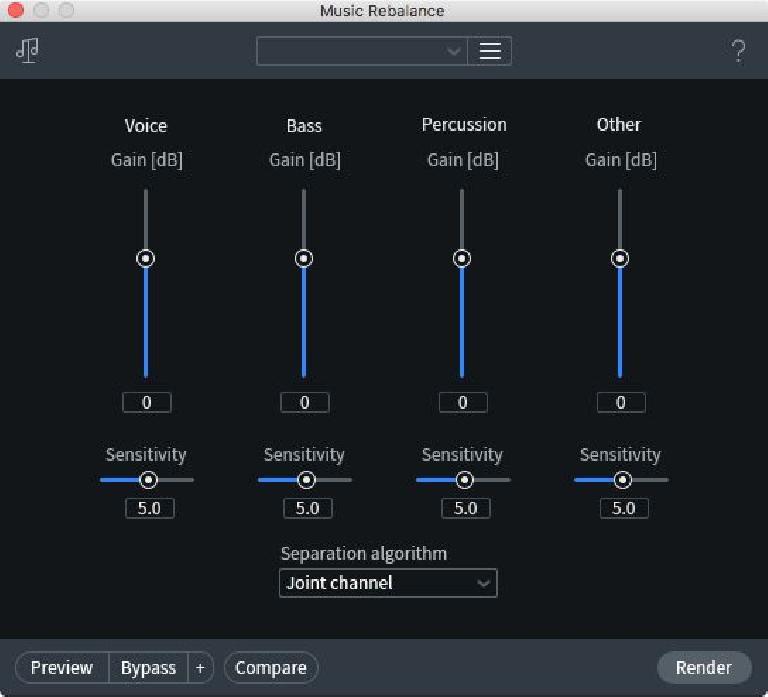 RX7's Music Rebalance module