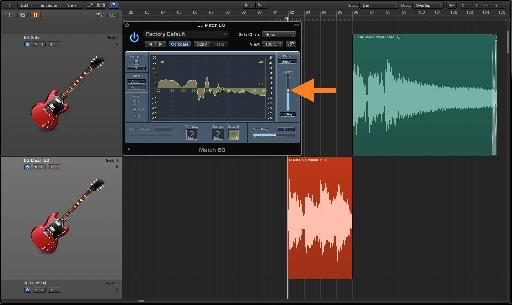 Fig. 9 The 'Apply' slider adjusts the intensity of the matched-EQ curve, for a better blend.