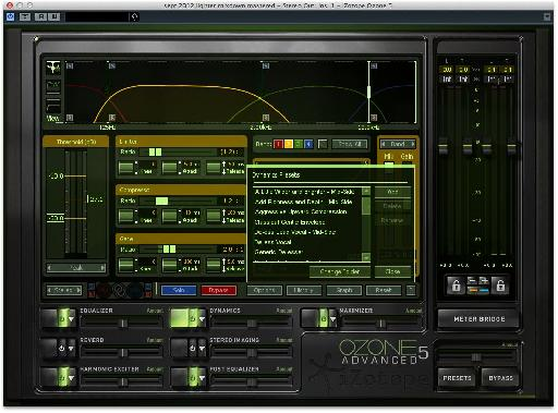Choose module presets as well as plug-in-wide presets.