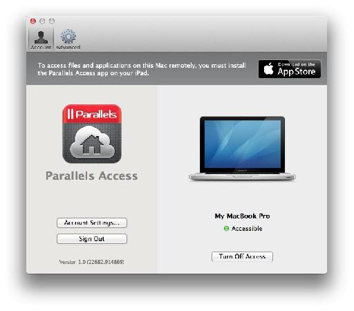 You have to sign in to Parallels on your computer and your iPad for the purposes of authentication.