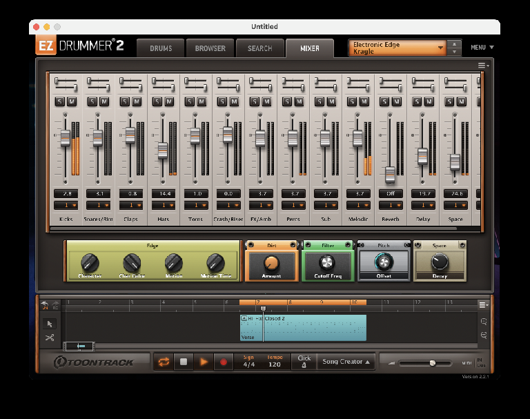 Toontrack EZDrummer Electronic Edge Expansion 3