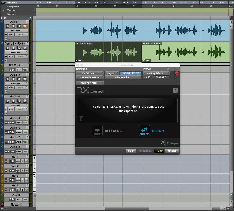 iZotope RX 6 in Pro Tools