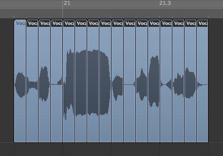 Chopping audio in Logic