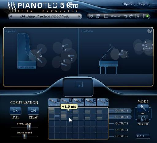 PianoTeq 5 interface