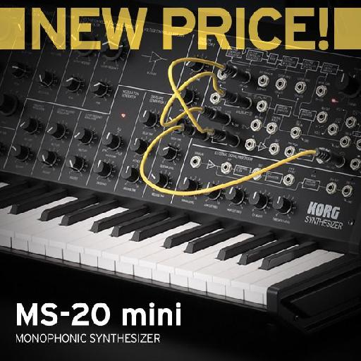 Now just $449.99 USD, the Korg MS-20 Mini just became a whole lot more attractive!