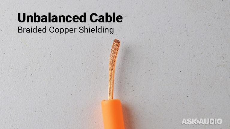Unbalanced braided-copper shielding