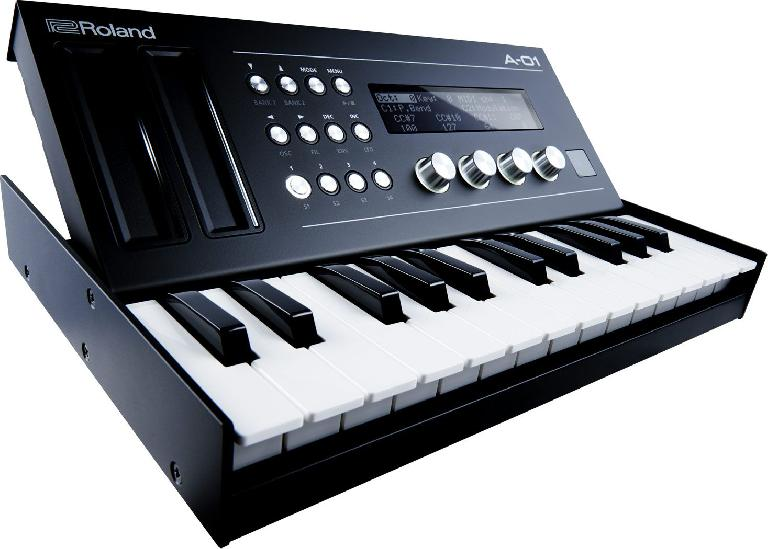 Roland A-01 with the K-25m keyboard. You can adjust the tilt to suit.